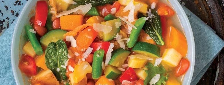 Recette végétarienne – Minestrone d'été