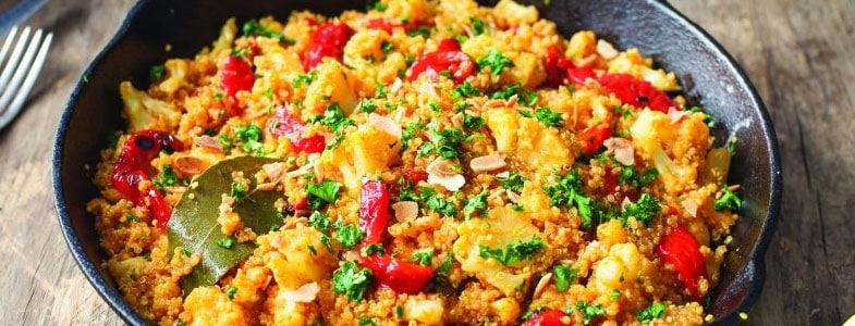 Recette végétarienne – Paella au quinoa