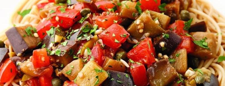 recette-vegetarienne-pates-aubergines-tomates