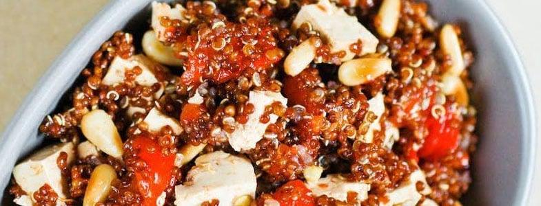 Quinoa, poivron rouge et tofu
