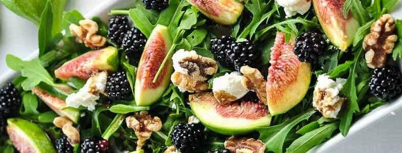 Roquette aux figues et mûres