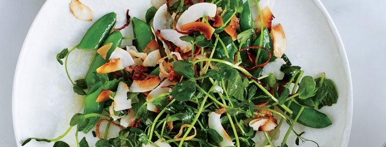 recette-vegetarienne-salade-pois-gourmands-coco