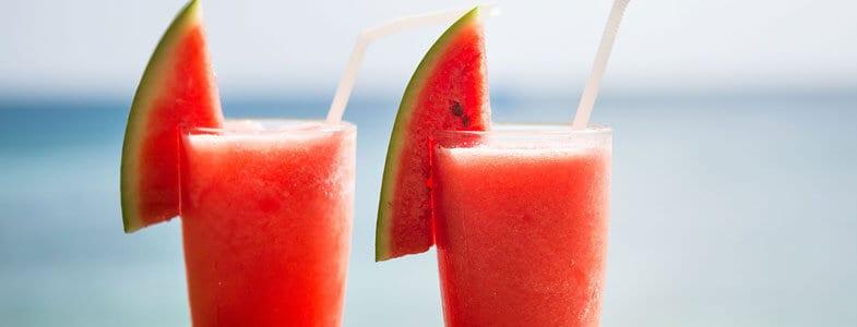 Smoothie fraise pastèque