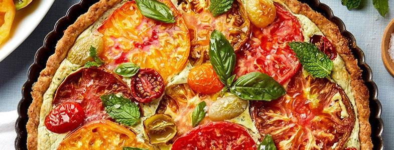 Tarte aux tomates et ricotta
