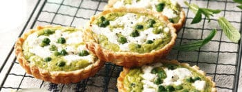 recette-vegetarienne-tartelette-petits-pois-chevre