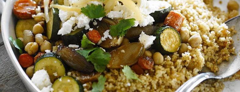 Boulgour aux légumes grillés
