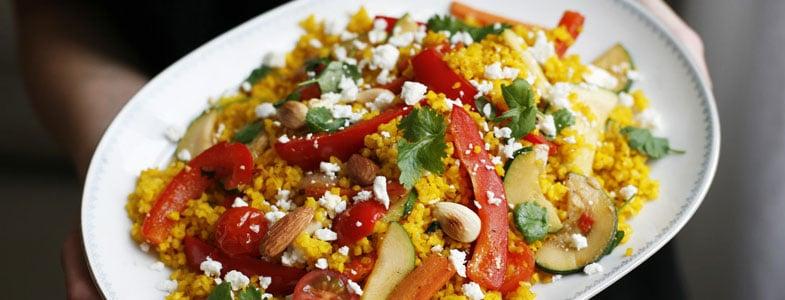 Boulgour de safran aux légumes