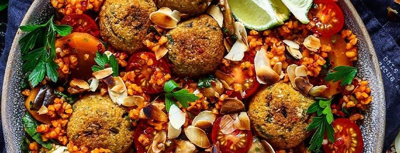 Boulgour à la tomate et falafels