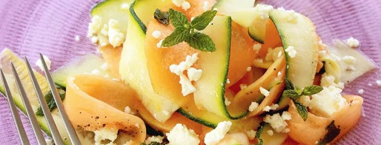 Carpaccio courgette et melon