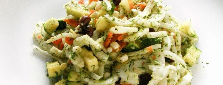 Légumes d'été et haricots rouges au pesto de fenouil
