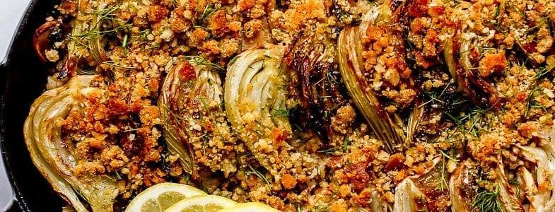 recette-vegetarienne-gratin-riz-fenouil-champignons