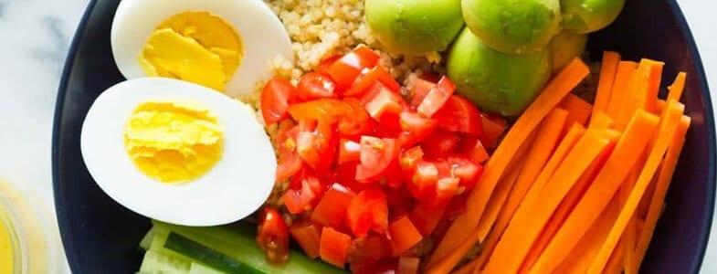 Healthy buddha bowl au quinoa