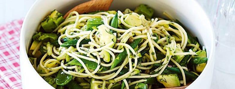 recette-vegetarienne-pates-haricots-verts-pois-mange-tout