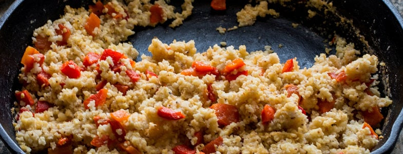 Pilaf de millet aux poivrons rouges