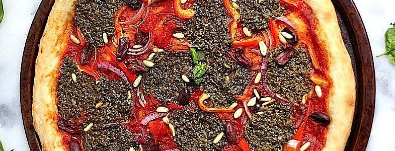 recette-vegetarienne-pizza-pesto