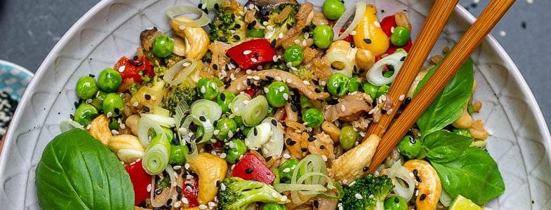 Riz et légumes à l'asiatique