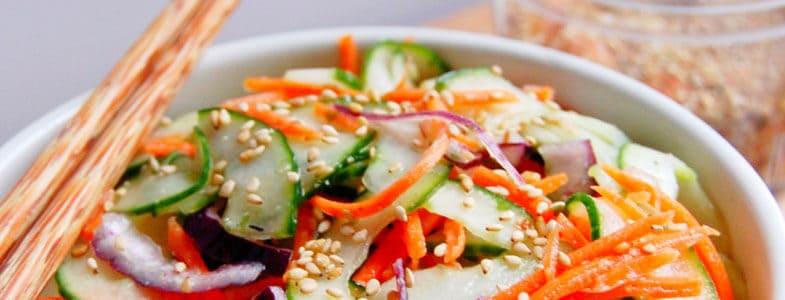 Concombre et carotte au miso