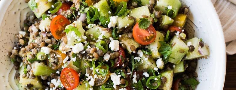 Salade de lentilles d'été