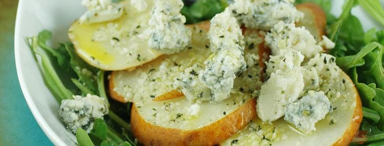 Salade poire et roquefort