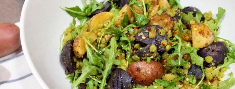 Salade de pois cassés, betteraves et pommes de terre