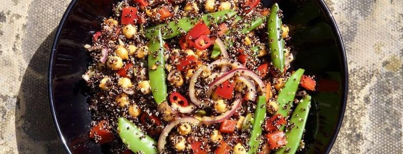 Salade de quinoa noir et pois chiches