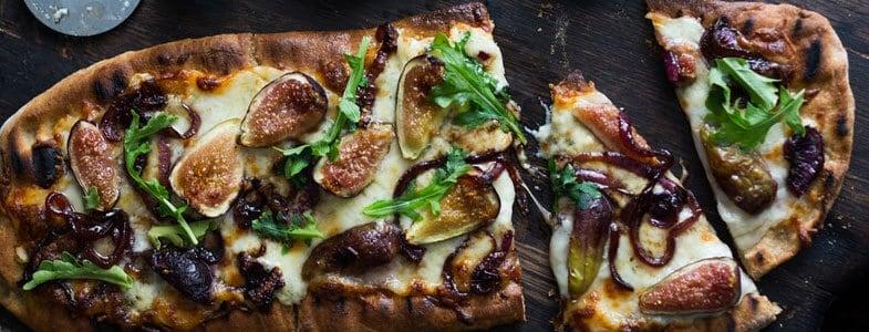 Pizza aux figues et gorgonzola