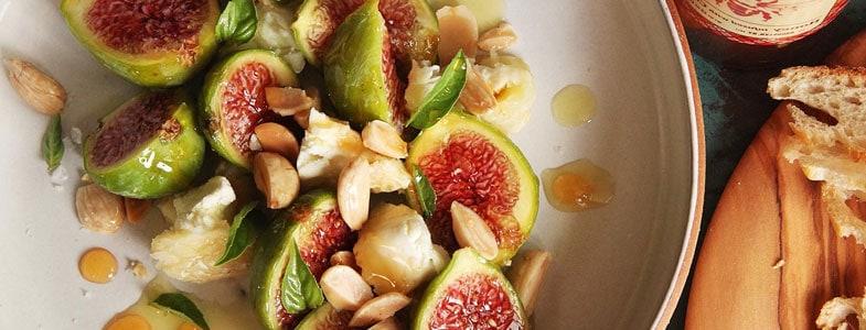 recette-vegetarienne-figues-miel-amandes