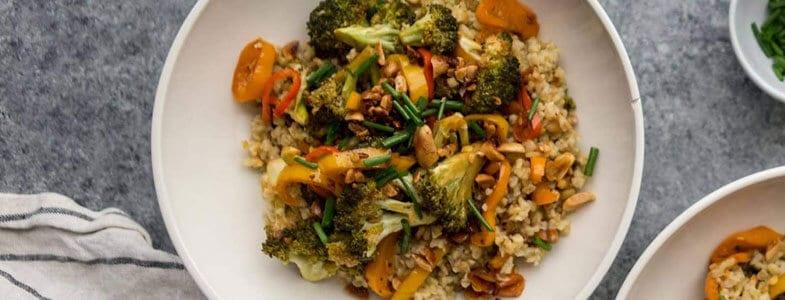 recette-vegetarienne-freekeh-brocolis-poivrons