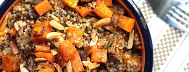 Lentilles et quinoa à la courge
