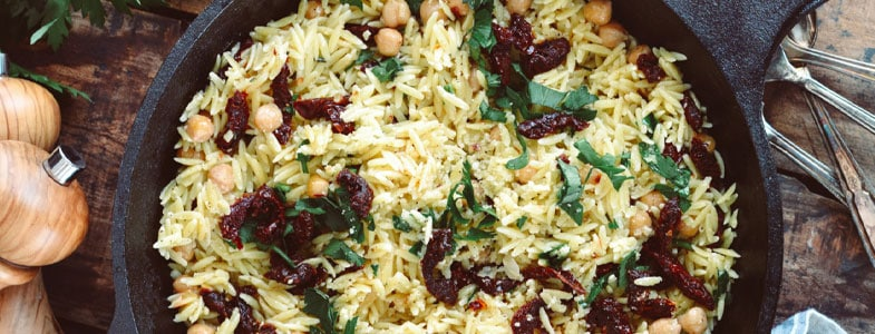 recette-vegetarienne-orzo-pois-chiches-tomates-sechees