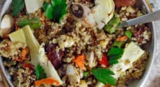 Paella au quinoa
