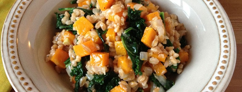 recette-vegetarienne-risotto-epeautre-courge-chou-kale