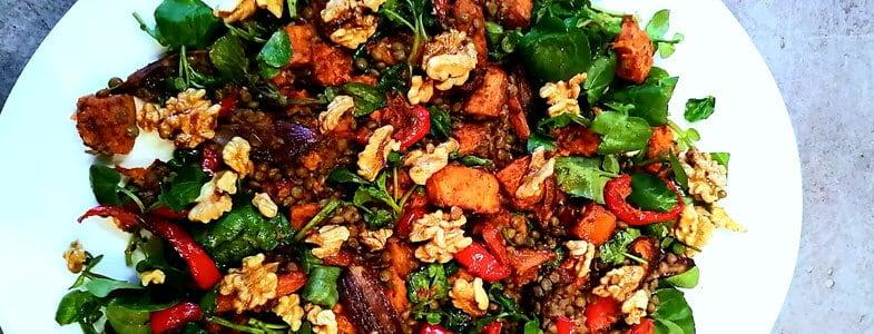 Salade chaude de courge rôtie aux épices
