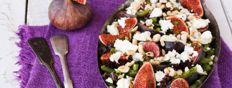 recette-vegetarienne-salade-haricots-verts-figues