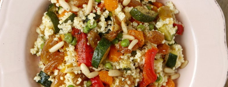 Salade de millet pilaf d'été