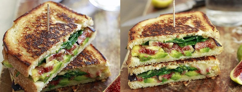 Sandwich figues et avocat