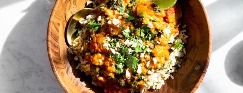 Curry thaï au chou-fleur
