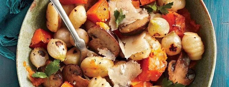 Gnocchis aux légumes d'automne