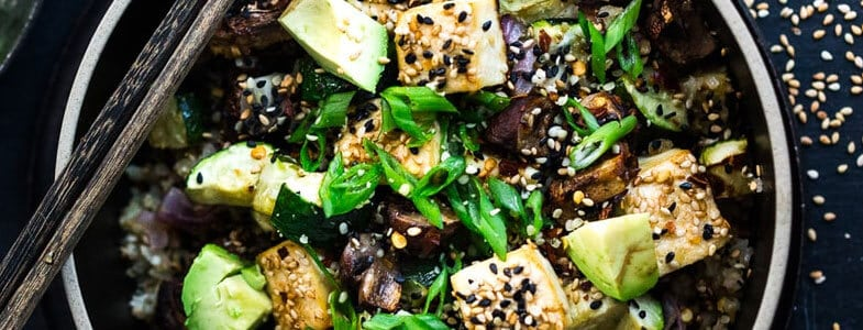Légumes grillés et tofu, façon asiatique
