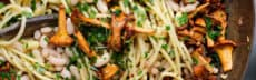 recette-vegetarienne-pates-girolles-haricots-blancs