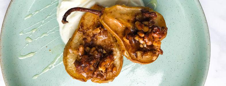 recette-vegetarienne-poires-four-cannelle