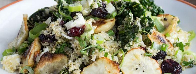 Quinoa au topinambour et chou kale