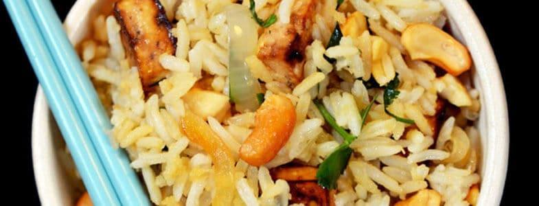 Riz à la citronnelle et tofu rôti