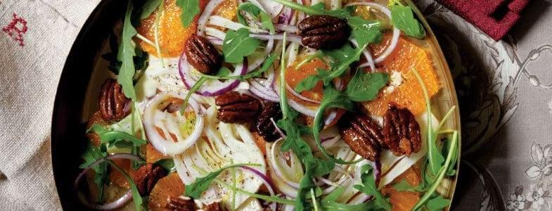 Salade de fenouil, orange et noix de pécan
