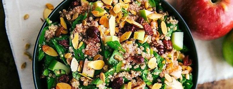 Salade de quinoa aux pommes et amandes