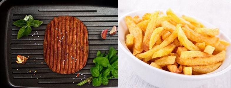 Steak végétal, frites
