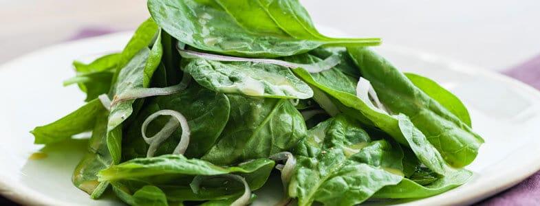 Salade de jeunes pousses d'épinards