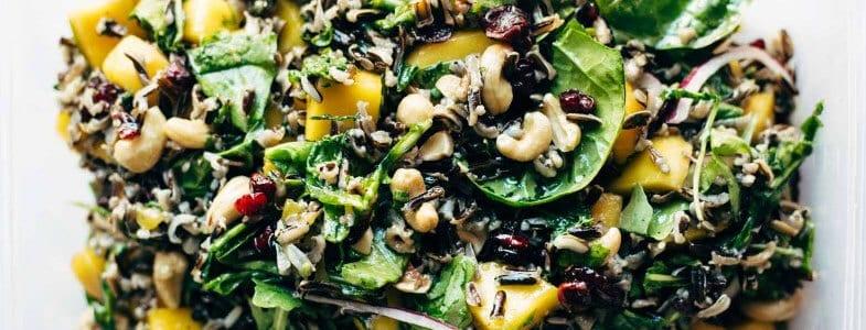 Salade d'automne au riz sauvage, sauce citron