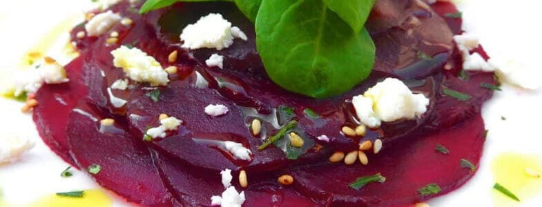 Carpaccio de betteraves et feta