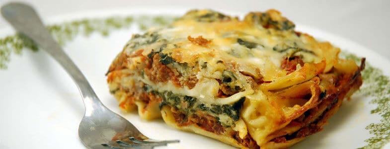 Lasagnes végétariennes aux épinards